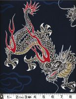 FIERY DRAGONS: Navy Blue