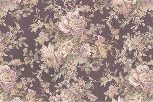 Floral Bouquet - Mocha Taupe - BTY