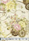 Flower Carts of Japan - Cream with Gold Metallic