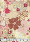 HANA ZUKUSHI - Cherry Blossoms - Cream/Gold