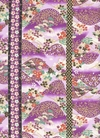 Hills of Flowers: Purple/Gold Asian Fabric