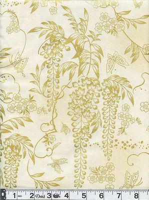 IMPERIAL 15: Gold Metallic Wisteria - Ivory