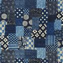 INDIGO PATCHWORK DESIGN - Homespun