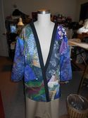 Jacket with Designs of Koi and Egrets by Phyllis in OR