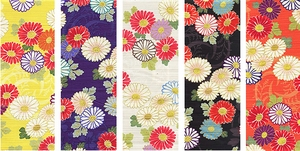 JAPANESE FLORALS - Design I - 5 FAT QUARTERS