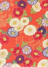 JAPANESE FLORALS - Design I - Orange