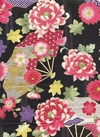 JAPANESE FLORALS - Design II - Black