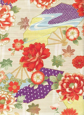 JAPANESE FLORALS - Design II - Cream