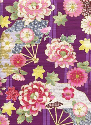 JAPANESE FLORALS - Design II - Purple