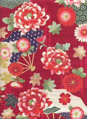 JAPANESE FLORALS - Design II - Red