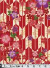 KIMONO IV: Cherry Blossoms Afloat - Red with Gold Metallic