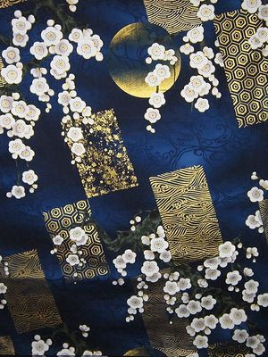 MOON LIGHT DISPLAY - Navy Blue/Gold - BTY