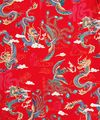 MYTHICAL CHINESE DRAGON & PHOENIX: Red - BTY