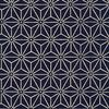 NARA HOMESPUN: Asanoha (Hemp) Design - Indigo/Cream