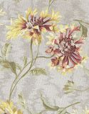 DELICATE FLOWERS: Beige, Yellow, Red Japanese Cotton Taupe