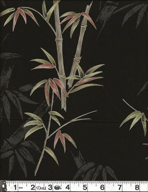 BAMBOO TREES: Black - By the Yard