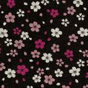 CHERRY BLOSSOMS AFLOAT: Black & Shades of Pink