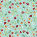 MICHIKO COLLECTION: DRIFTING BLOSSOMS & LEAVES TURQUOISE