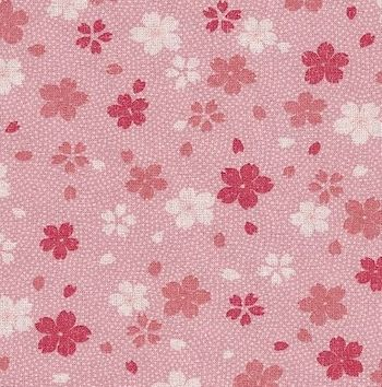 CHERRY BLOSSOMS AFLOAT:  Pink