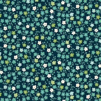 MICHIKO COLLECTION: TINY BLOSSOMS - Blue