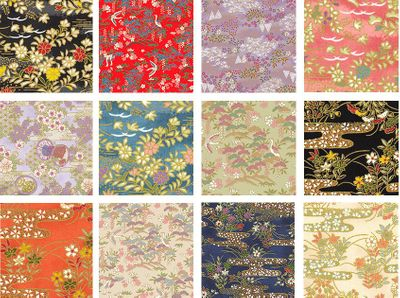 12 Chiyogami Designs Fat Quarter Collection - 3 Yards