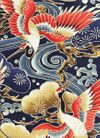 Majestic Cranes: Navy Blue - BTY