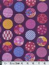 Circles of Traditional Japanese Flowers & Patterns - Purple