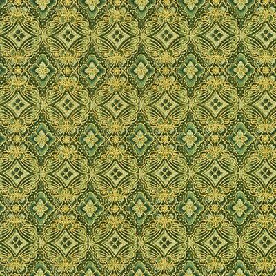 IMPERIAL 15: Gold Metallic Medallions - Green