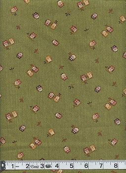 JAPANESE OWL FABRIC: Green