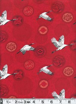 CRANES IN FLIGHT: Red