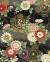 HANA ZUKUSHI - Mum & Plum Blossoms - Black/Gold