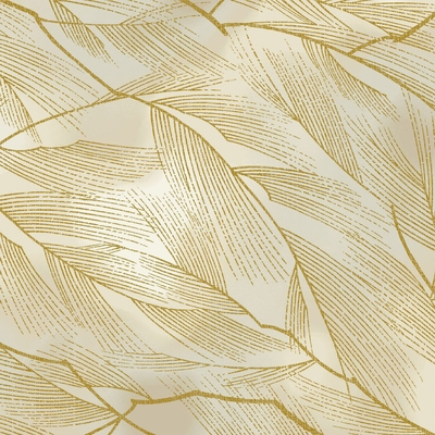 HANA ZUKUSHI - Leaves in Motion - Cream/Gold