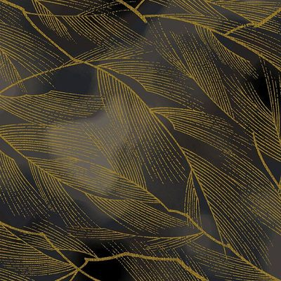 HANA ZUKUSHI - Leaves in Motion - Black/Gold