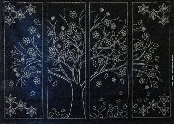 CHERRY BLOSSOM TREE - Sashiko Panel
