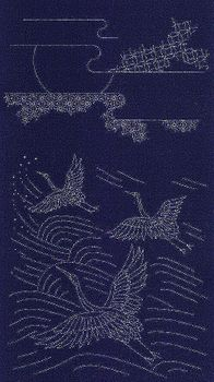 CRANES IN FLIGHT - Sashiko Panel