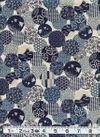 Circles of Japanese Designs - Indigo, Blue, Cream