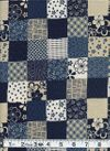 Blocks of Japanese Designs - Indigo, Blue, Cream