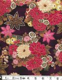 BEAUTIFUL GILDED ASIAN BLOSSOMS: Purple/Plum