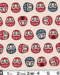 DARUMA DOLLS - Cotton Dobby