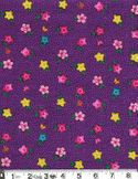 PRETTY LITTLE FLOWERS: Purple Cotton Dobby