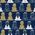 STATUES OF BUDDHA: Navy Blue