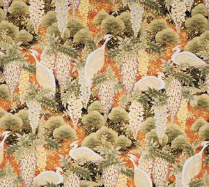 WISTERIA & WHITE HERONS: Red - BTY