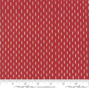 FRENCH SASHIKO BORO WOVENS: Rouge