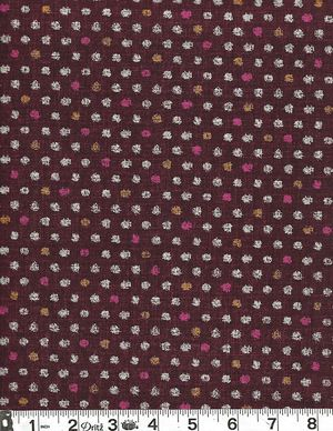 COLORED DOTS: Cotton Dobby - Purple