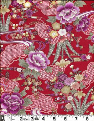 BEAUTIFUL FLORAL LANDSCAPE: Red
