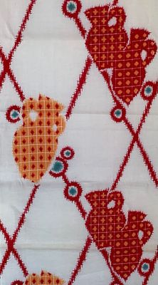 VINTAGE YUKATA COTTON FABRIC #305: BTY