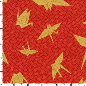 GOLD PAPER CRANES - Red