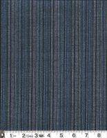 STRIPES: Navy Blue Cotton Dobby