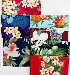 TROPICAL FABRICS BY THE BUNDLE D - 8 Pieces