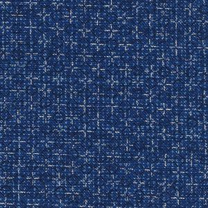 TINY DIAMOND CROSSES:  Delft Blue Homespun